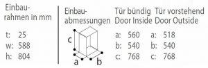 C110BT -einbaurahmen