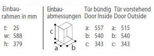 C30BT-einbaurahmen