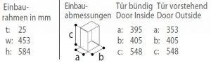 C35BT-einbaurahmen