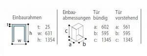 DP2600iX OCX2-einbaurahmen-einbauabmessungen