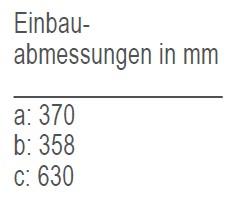 Einbauabmessungen-IM CL HYDRO-12V/ IM CL REFILL-12V