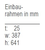 Einbaurahmen-IM CL HYDRO-12V/IM CL REFILL-12V